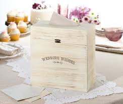 wedding wishes card box rustic wood wedding wishes card box