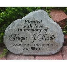 garden memorial stones a custom engraved garden memorial medium personalized km