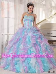 simple quinceanera dresses multi color gown sweetheart organza appliques simple