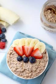 healthy chocolate mousse overnight oats nourish move love