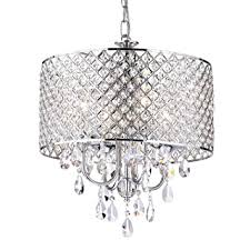 Crystal Drum Shade Chandelier Drum Shade Chandelier With Crystals Edvivi Epg801ch Chrome Finish
