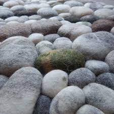 Pebble Rug Felt Stone Rug Exclusive Nature Living Environment By Flussdesign