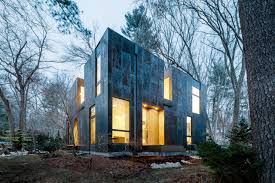 weathered steel home by merge architects design milk