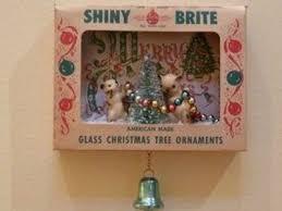 vintage shiny brite ornament shadow box on ebay
