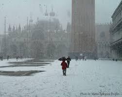 veniceblog snow in venice winter 2005