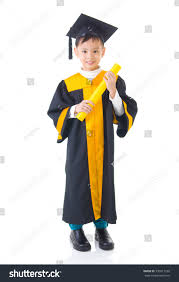 kids cap and gown asian kid graduation gown stock photo 330811220