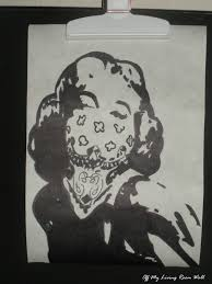 Marilyn Monroe Living Room by Gangster Marilyn Monroe Stencil Art Print 15 00 Off My Living