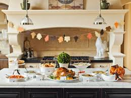 kitchen island buffet 2015 thanksgiving tablecloth and setting ideas premier table