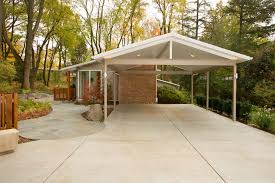 Attached Carport Ideas Pretty Attached Carport Plans With Exterior Metal Roof