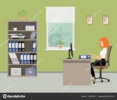 le de bureau verte bannière web d un employé de bureau dans la chambre verte près de la