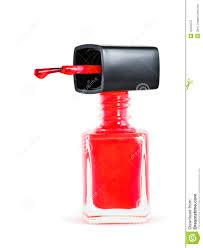 bottle of red nail polish royalty free stock photo image 15405575