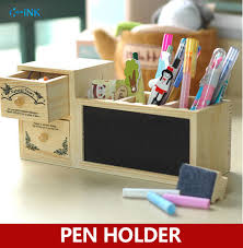Vintage Desk Organizer Vintage Wooden Pen Holder With Magnetic Blackboard School