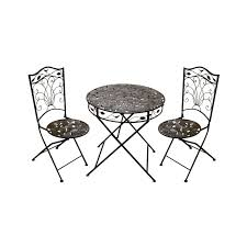 Black Metal Bistro Table Black Metal Carving Table And Chairs With Back And