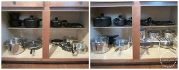 how to organize kitchen cabinets kitchen cabinet pots and pans organizer with for accommodate