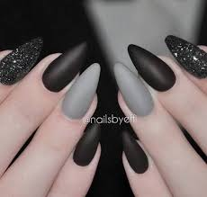 black grey easy diy matte nails design ideas for 2017 nails