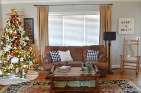 At Home Christmas Trees by Christmas Tour Living Room At Home With The Barkers