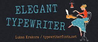 elegant typewriter font dafont com