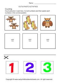 cut and paste worksheets for preschoolers worksheets