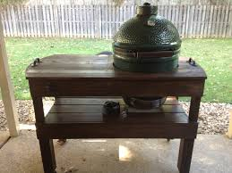Green Egg Kitchen - big green egg table