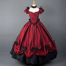Victorian Halloween Costumes Women Aliexpress Buy European Red Victorian Dress Ball Gown