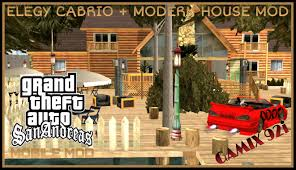 gta sa android elegy cabrio mod and modern house mod youtube