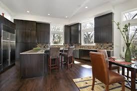 Download Dark Wood Floors In Kitchen Gencongresscom - Dark wood kitchen cabinets