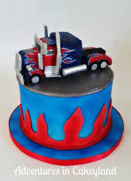 optimus prime cake topper transformers optimus prime truck cake by adventures in cakeyland