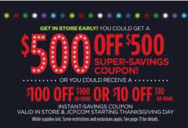 jcpenney thanksgiving day coupon giveaway sensible shoppers