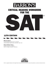 preview barron u0027s critical reading workbook for the new sat by