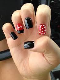 simple minnie mouse manicure nails pinterest minnie mouse
