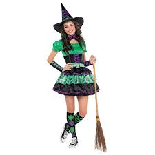 Witch Halloween Costumes Adults Girls Teen Wicked Cool Witch Halloween Costume Fancy Dress