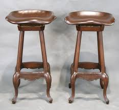 bar stools brown wooden french country bar stool with clawfoot