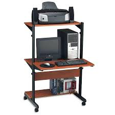compact computer desk solid wood small computer desk with printer