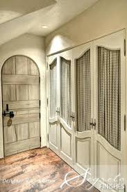 Fabric Closet Doors Fabric Closet Doors Closet Doors With Chicken Wire And Fabric Diy
