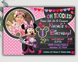 minnie mouse invites etsy