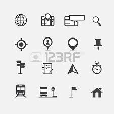 map and location icons set vector royalty free cliparts vectors