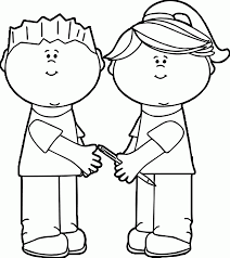 kids sharing coloring page coloring home