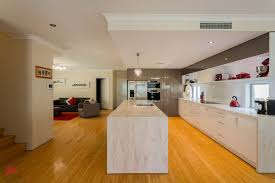 Marble Look Laminate Flooring Cabinets U0026 Storages White Stylish Contemporary Glossy Kitchen