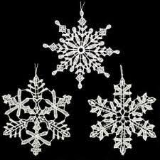 snowflake icicle cube ornaments bronner s