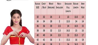 blouse size chart your right size here for fit blouse