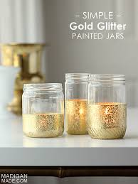 glitter and gold dipped jar candles rosyscription