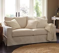 Slipcovered Sofa Bed Pb Comfort Square Arm Slipcovered Sofa Pottery Barn