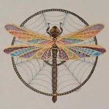 dragon dream catcher dragonfly dreamcatcher drawing by linda clary