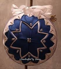 it is time quilt looking fabric ornaments made by