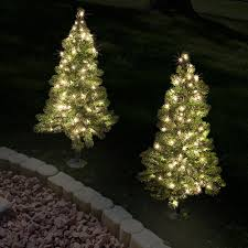 ft pathway tree with 50 warm white led lights