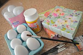 easter napkins make these simple pretty diy decoupage easter eggs hip2save