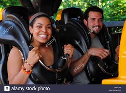 Six Flags Friends Jordin Sparks Enjoys A Day Off While On Tour With Her Band And