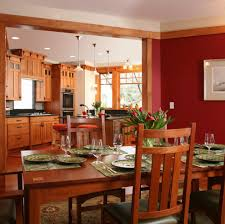 seattle mission style cabinets dining room craftsman with red