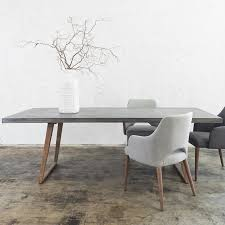 concrete dining table 2200 x 900 grey dining room ideas