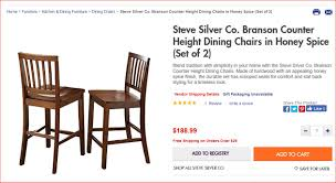 branson counter height dining room set by steve silver u2013 only 599